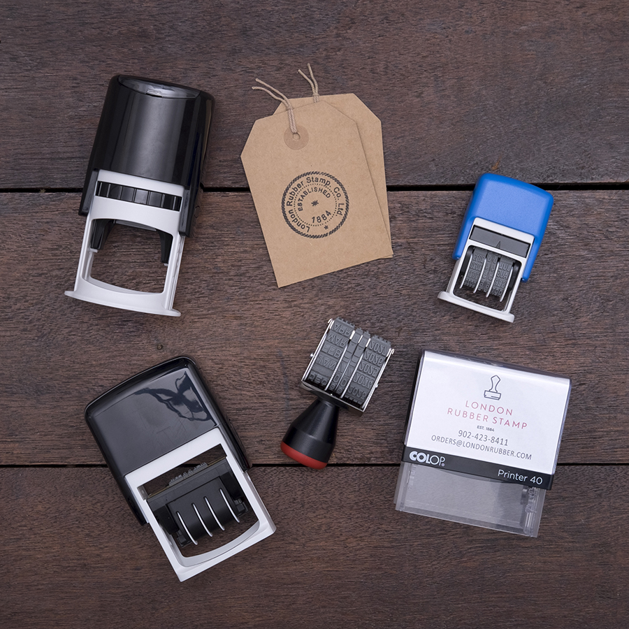 Custom self inking stamps